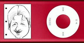 Alan screenplay page, on an iPod