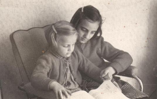 Anikó + Zsike, circa 1956
